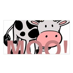 Moo Cow Cartoon  Satin Shawl
