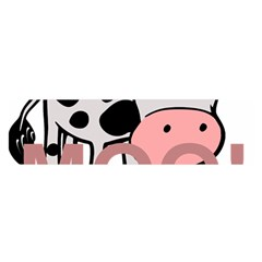 Moo Cow Cartoon  Satin Scarf (Oblong)