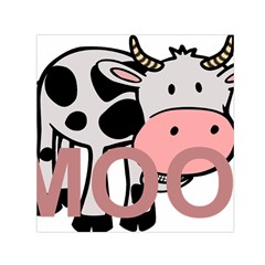 Moo Cow Cartoon  Small Satin Scarf (Square)