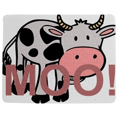 Moo Cow Cartoon  Jigsaw Puzzle Photo Stand (Rectangular)