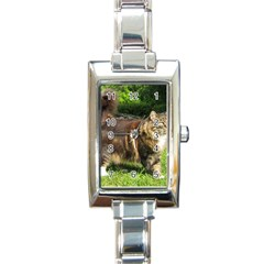 Norwegian Forest Cat Full  Rectangle Italian Charm Watch