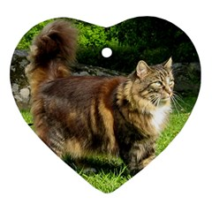 Norwegian Forest Cat Full  Ornament (Heart)