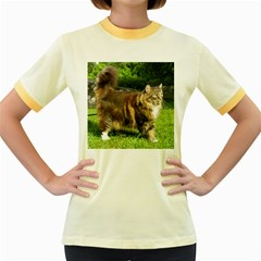 Norwegian Forest Cat Full  Women s Fitted Ringer T-Shirts