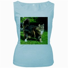 Norwegian Forest Cat Full  Women s Baby Blue Tank Top