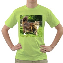 Norwegian Forest Cat Full  Green T-Shirt