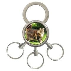 Norwegian Forest Cat Full  3-Ring Key Chains