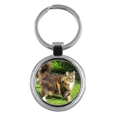 Norwegian Forest Cat Full  Key Chains (Round)