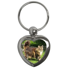 Norwegian Forest Cat Full  Key Chains (Heart)