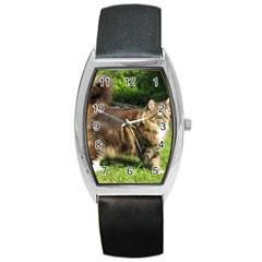 Norwegian Forest Cat Full  Barrel Style Metal Watch