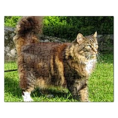 Norwegian Forest Cat Full  Rectangular Jigsaw Puzzl
