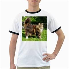 Norwegian Forest Cat Full  Ringer T-Shirts