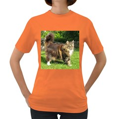 Norwegian Forest Cat Full  Women s Dark T-Shirt
