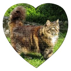 Norwegian Forest Cat Full  Jigsaw Puzzle (Heart)