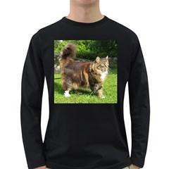 Norwegian Forest Cat Full  Long Sleeve Dark T-Shirts