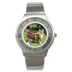Norwegian Forest Cat Full  Stainless Steel Watch