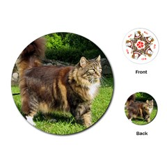Norwegian Forest Cat Full  Playing Cards (Round)