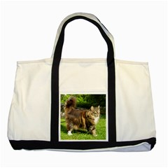 Norwegian Forest Cat Full  Two Tone Tote Bag