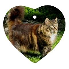 Norwegian Forest Cat Full  Heart Ornament (2 Sides)