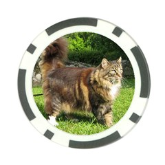 Norwegian Forest Cat Full  Poker Chip Card Guards