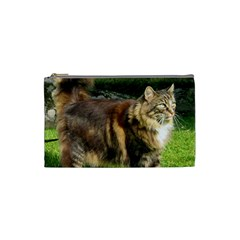 Norwegian Forest Cat Full  Cosmetic Bag (Small)