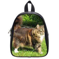 Norwegian Forest Cat Full  School Bags (Small)