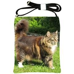 Norwegian Forest Cat Full  Shoulder Sling Bags