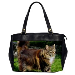 Norwegian Forest Cat Full  Office Handbags