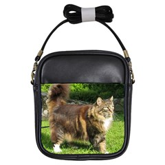 Norwegian Forest Cat Full  Girls Sling Bags