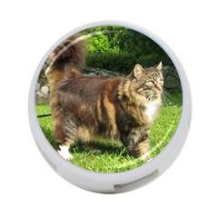 Norwegian Forest Cat Full  4-Port USB Hub (One Side)