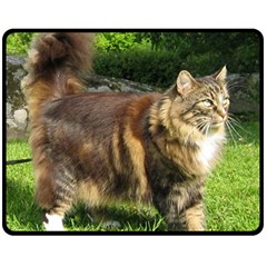 Norwegian Forest Cat Full  Fleece Blanket (Medium)