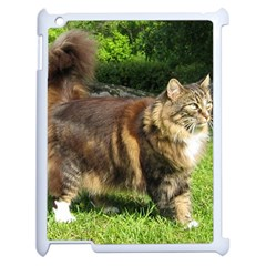 Norwegian Forest Cat Full  Apple iPad 2 Case (White)