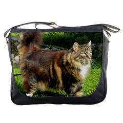 Norwegian Forest Cat Full  Messenger Bags