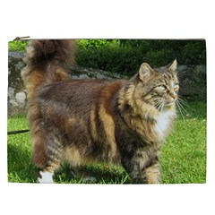 Norwegian Forest Cat Full  Cosmetic Bag (XXL)