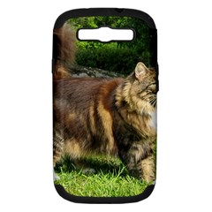 Norwegian Forest Cat Full  Samsung Galaxy S III Hardshell Case (PC+Silicone)