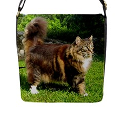 Norwegian Forest Cat Full  Flap Messenger Bag (L)