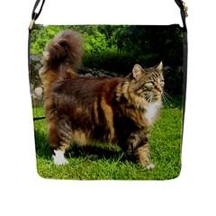 Norwegian Forest Cat Full  Flap Messenger Bag (L)