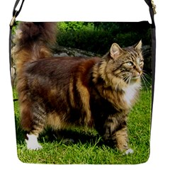 Norwegian Forest Cat Full  Flap Messenger Bag (S)