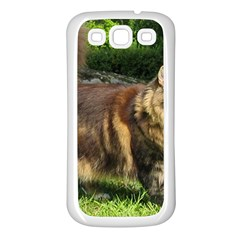 Norwegian Forest Cat Full  Samsung Galaxy S3 Back Case (White)