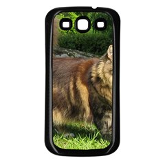 Norwegian Forest Cat Full  Samsung Galaxy S3 Back Case (Black)