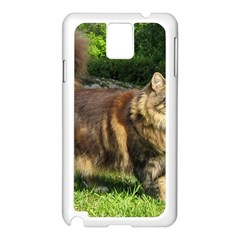 Norwegian Forest Cat Full  Samsung Galaxy Note 3 N9005 Case (White)