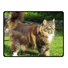 Norwegian Forest Cat Full  Double Sided Fleece Blanket (Small)
