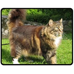 Norwegian Forest Cat Full  Double Sided Fleece Blanket (Medium)