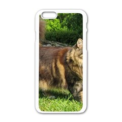 Norwegian Forest Cat Full  Apple iPhone 6/6S White Enamel Case