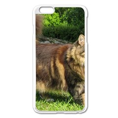 Norwegian Forest Cat Full  Apple iPhone 6 Plus/6S Plus Enamel White Case