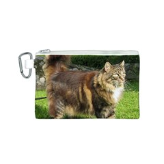 Norwegian Forest Cat Full  Canvas Cosmetic Bag (S)