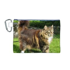 Norwegian Forest Cat Full  Canvas Cosmetic Bag (M)