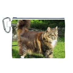 Norwegian Forest Cat Full  Canvas Cosmetic Bag (L)