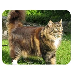 Norwegian Forest Cat Full  Double Sided Flano Blanket (Medium)