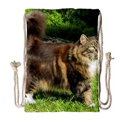 Norwegian Forest Cat Full  Drawstring Bag (Large)