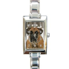 Boerboel  Rectangle Italian Charm Watch
